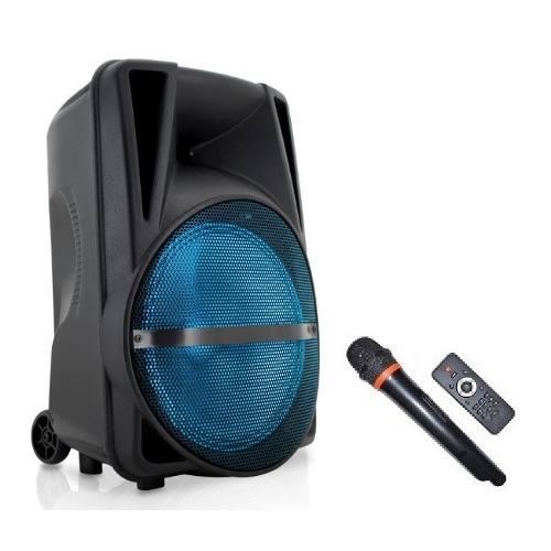 Bafle Rcargable Bluetooth Bocina 12 Mp3 Usb Luz Mic Alien
