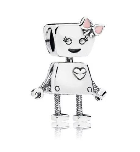 Charm Pandora Bella Bot Compatible Plata S925 Ale