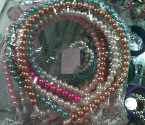 Diadema De Perlas, Bisuteria, Perlas, Brazalete, Lote De 12