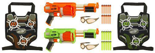 Nerf Dart Tag Furyfire 2 Player Set Green Orange...