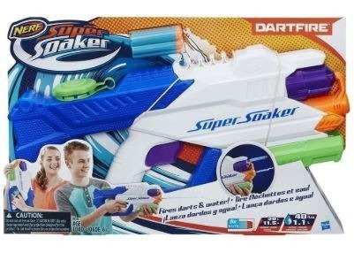 Nerf Super Soaker Dartfire Lanza Agua Y Dardos 11 Mts Hasbro