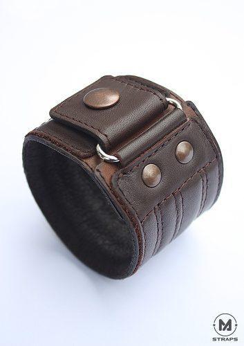 Pulsera Brazalete Piel Accesorios Hombre Leather Cuff