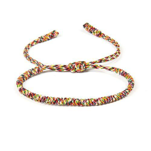 Pulsera Tibetana Amuleto Budista Hecha Por Monjes Arcoiris