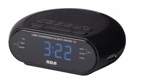 Radio Reloj Despertador Rca Con Cargador Usb Modelo Rc207z