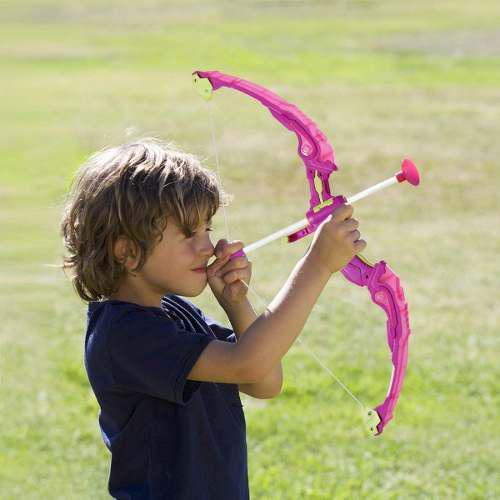 Set De Arquería Infantil De Juguete. Color Rosa.