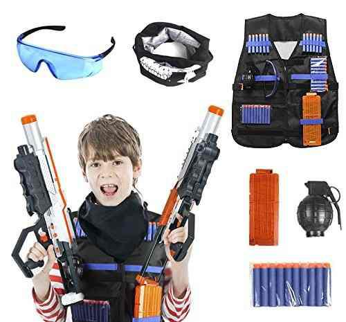 Unigear Tactical Vest Kit Para Niños Nerf Guns N Strike