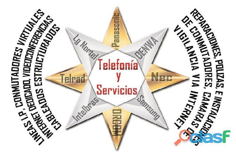 Venta, mantenimiento, reparación de conmutadores, cctv y