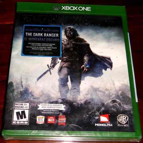 Videojuego Middle Earth Shadow Of Mordor Xbox One Sellado