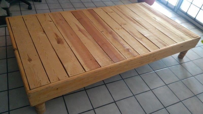 Base de madera para colchón individual
