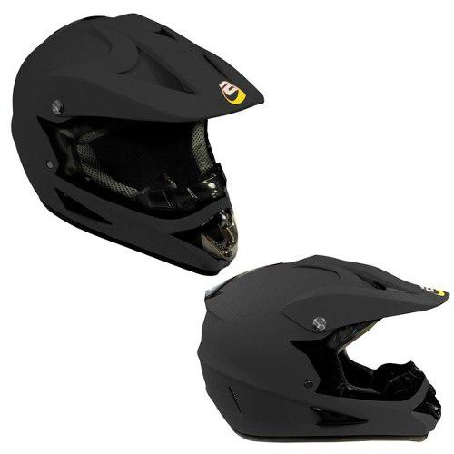 Casco Tipo Cross Alessia Negro Mate Tallas S, M, L Y Xl