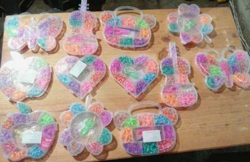 9eaba76117 Estuches de ligas de colores para hacer pulseras economicos
