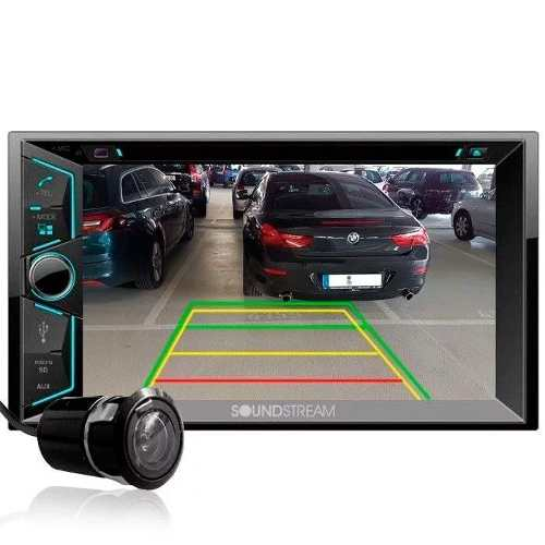 Pantalla Doble 2 Din Soundstream Vr-624b Bluetooth C/camara