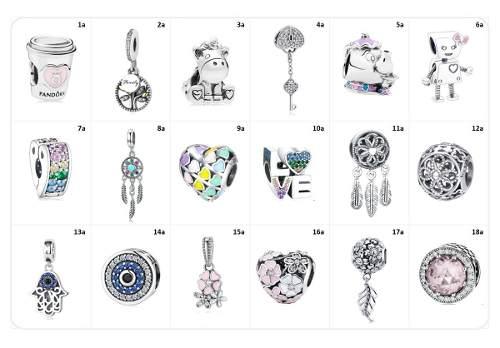 10 Charm De Plata A Escoger Compatibles Con Pandora