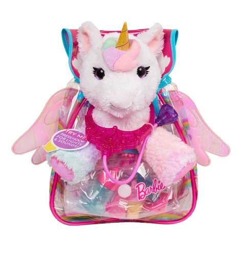 Barbie Unicornio Veterinaria. Peluche Unicornio Y Accesorios