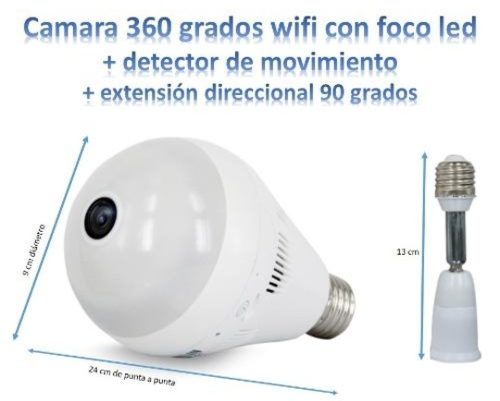 Camara Espia Foco + Extensión Direccional + Luz Real Wifi