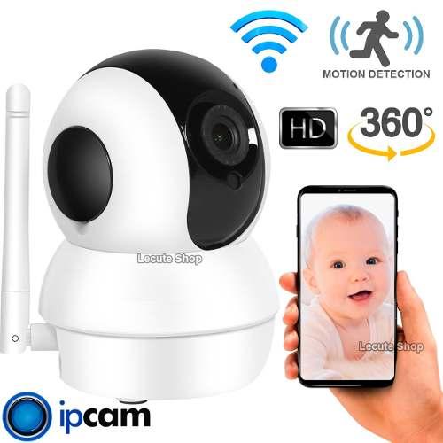 Camara Ip Wifi Vision Nocturna Sensor Movimiento Robot Bebe