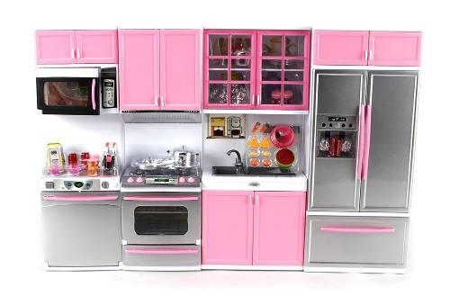 Cocinita Infantil Moderna Chica Cocina Juguete Elec. Exprés