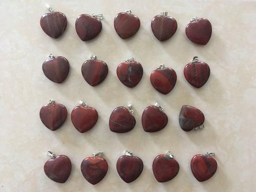 Corazón Jaspe Rojo Piedra Natural Dije Tamaño 2cmx2cm