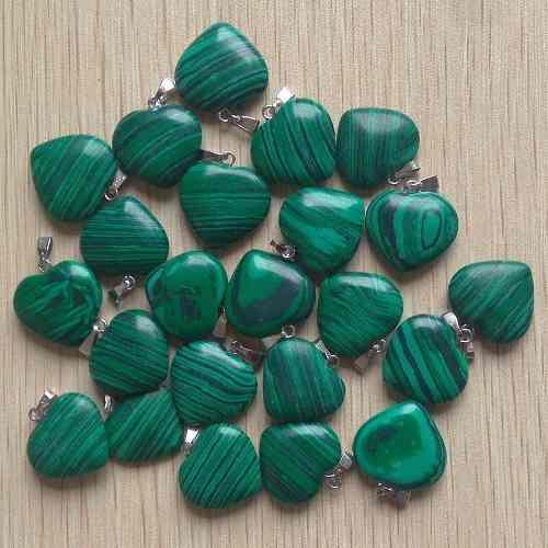 Corazón Malaquita Piedra Natural Dije Tamaño 2cmx2cm