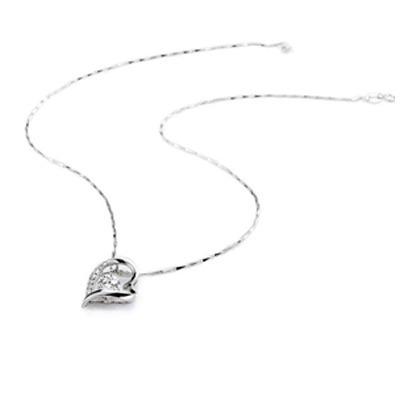 Dije Corazon Cristal Caja Y Cert Collar Valentin
