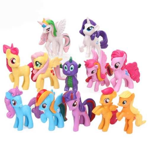 Excelente Set 12 Figuras Lindas My Little Pony Envió Gratis