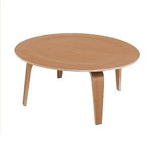 Mesa de centro estilo molded playwood mesa circular mobydec