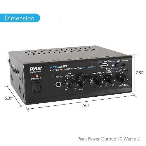 Mini Amplificador De Audio Para El Hogar Bluetooth Mini R...