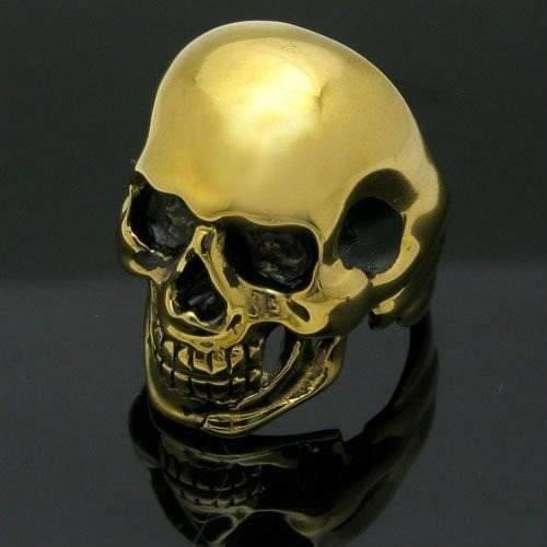 Anillo Calavera Cráneo Acero Inoxidable 316 L Y Titanium