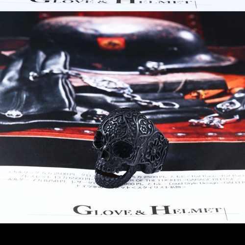 Anillo Calavera Cráneo Inox 316l Biker Rocker Navidad