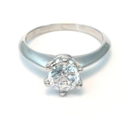 Anillo Compromiso Oro 10k Moissanit Forever One 0.50ct