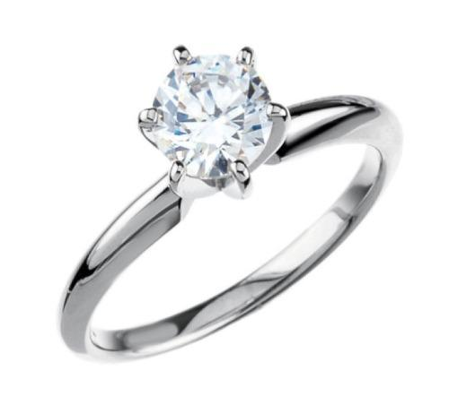 Anillo De Compromiso Con Diamante Cultivado De 50 Puntos