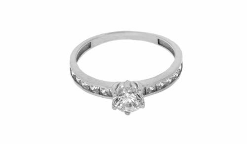 Anillo De Compromiso Oro 14 K Diamantes Cultivado 0.95 Ct