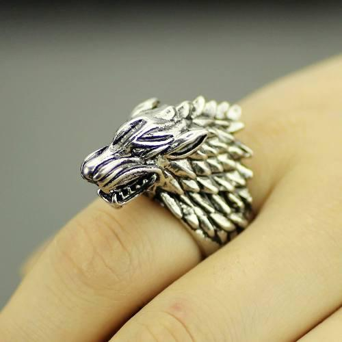 Anillo Game Of Thrones Ice Wolf House Stark Envío Gratis #9
