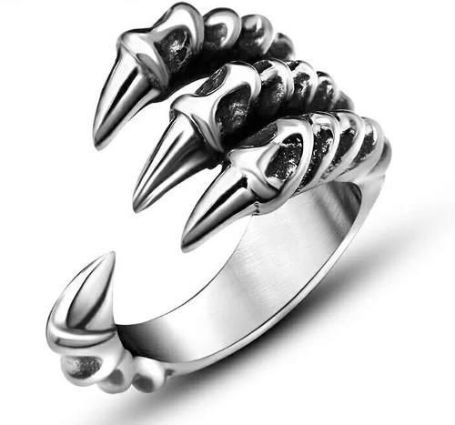Anillo Garra De Dragon Ajustable Fantasia.
