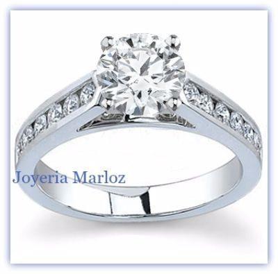 Anillos De Compromiso.45ct Diamante Natural Más Ziconias 18