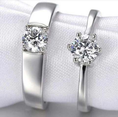 Anillos Duo Promesa Plata 925 Diamantes Amor+enviogratis++