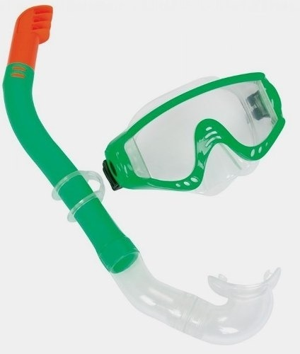 Combo Mascara Y Snorkel - Marca Bestway Verde De 7 A 16