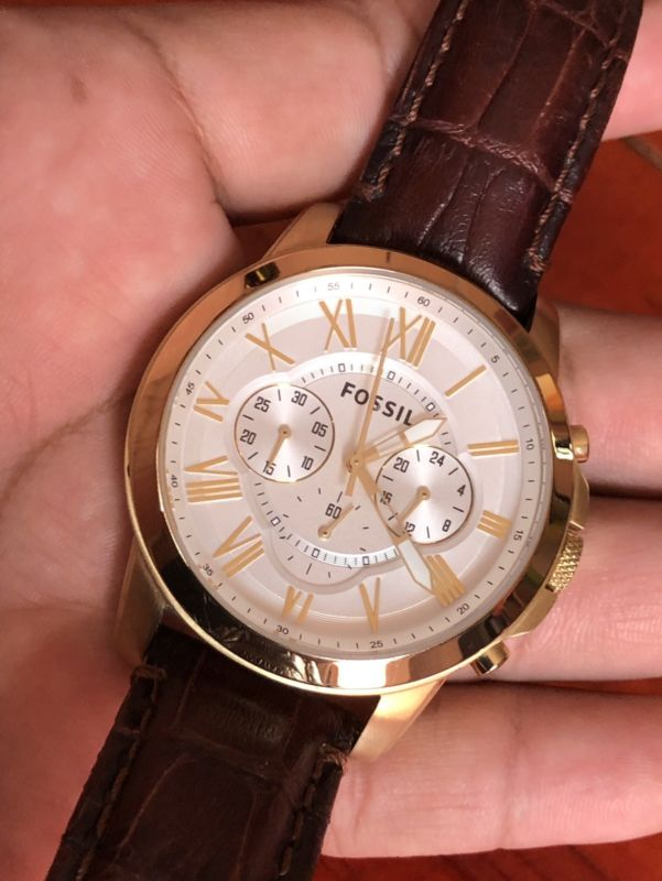 Excelente e impecable reloj Fossil FS piel Cafe