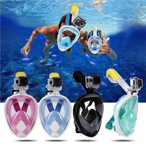 Mascara Snorkel Con Soporte Universal Para Gopro Azul