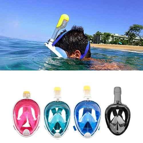 Máscara De Buceo Snorkeling Cara Completa Máscara 180