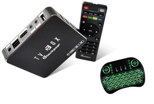 Tv Box 4k Ultra Hd Wifi Android Kodi Canales Mas Teclado /e