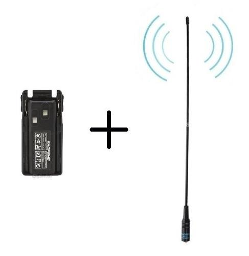 1 Bateria 2800 Mah Radio Baofeng Uv-82 + 1 Antena Nagoya