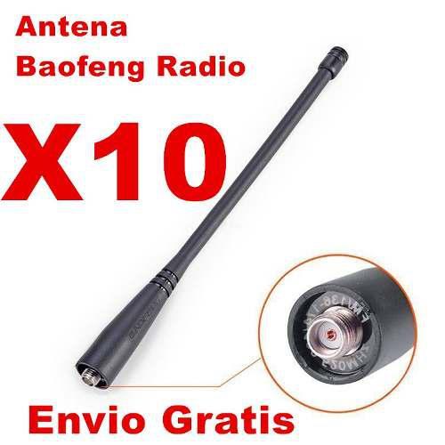 10 Antena Original Baofeng Radio Uv5r Uv82 Envio Gratis