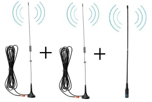 2 Antena Auto + 1 Antena Nagoya Para Radios Baofeng