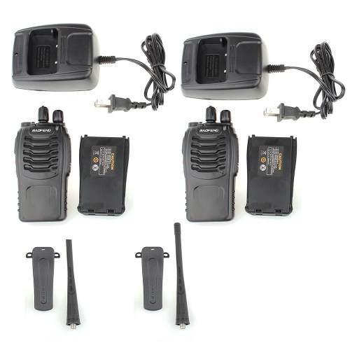 2 Radios Baofeng Bf-888s Walkie Talkie 2 Vías Uhf 16