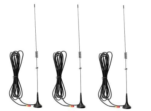 3 Antena Auto Para Radios Baofeng 100% Nueva