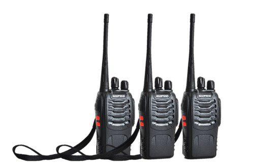 3 Radios Comunicación Portátil Baofeng 2 Vías Bf888s No