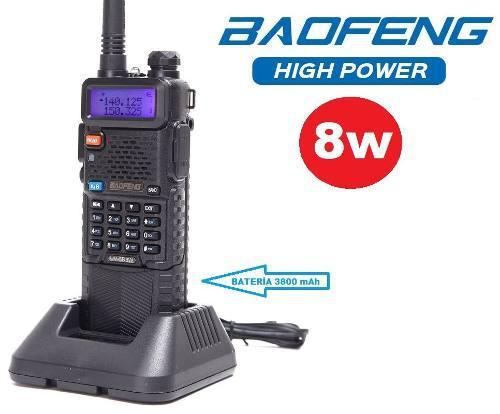 8w Radio Baofeng Uv-5r Pila De 3800 Mah * Maxima Potencia*