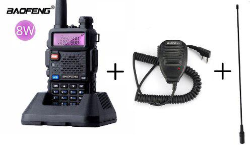 8w Radio Portatil Baofeng Uv-5r Uhf-vhf + Antena + Micro