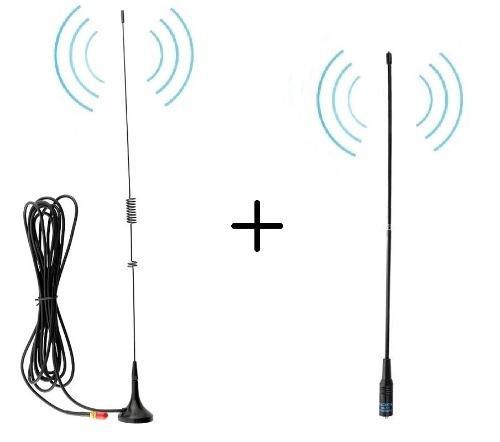 Antena Auto + Antena Nagoya Para Radios Baofeng 100% Nuevas